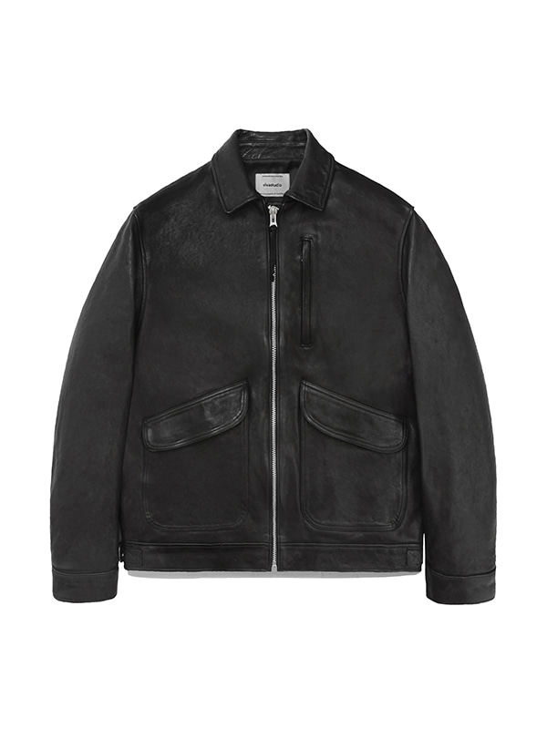 LEATHER CWU JACKET IA [BLACK]