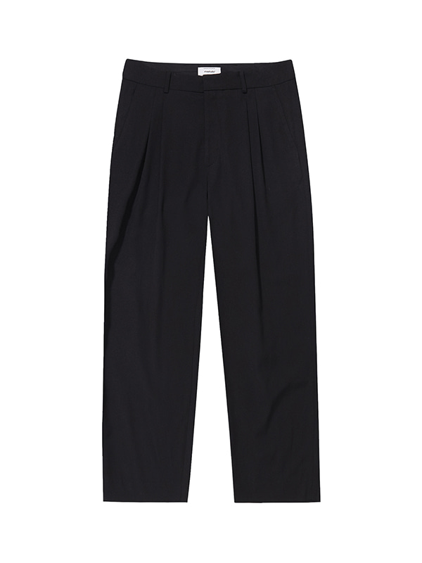 TWO TUCK SLACKS IA [BLACK]