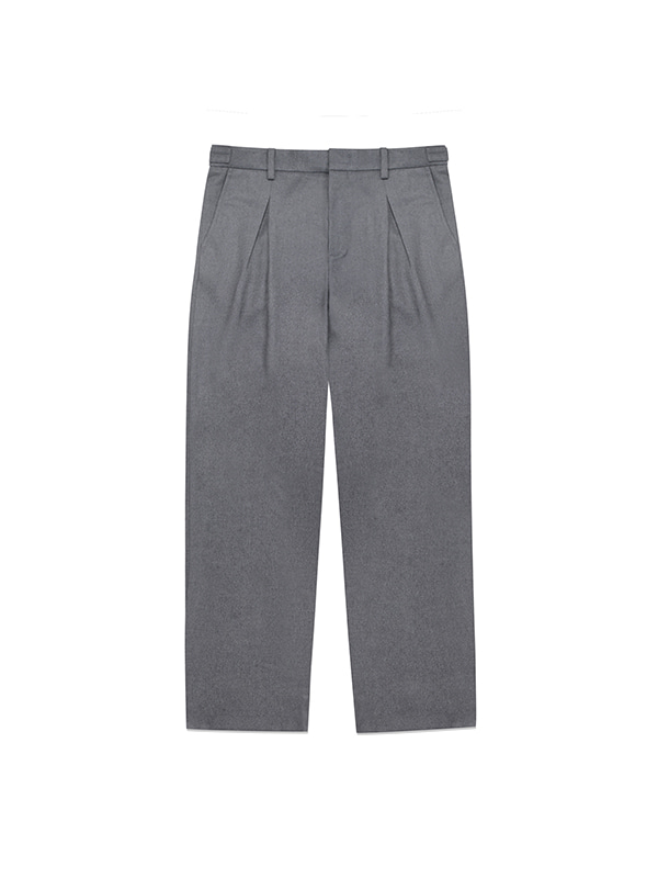 WOOL SLACKS IA [CHARCOAL]