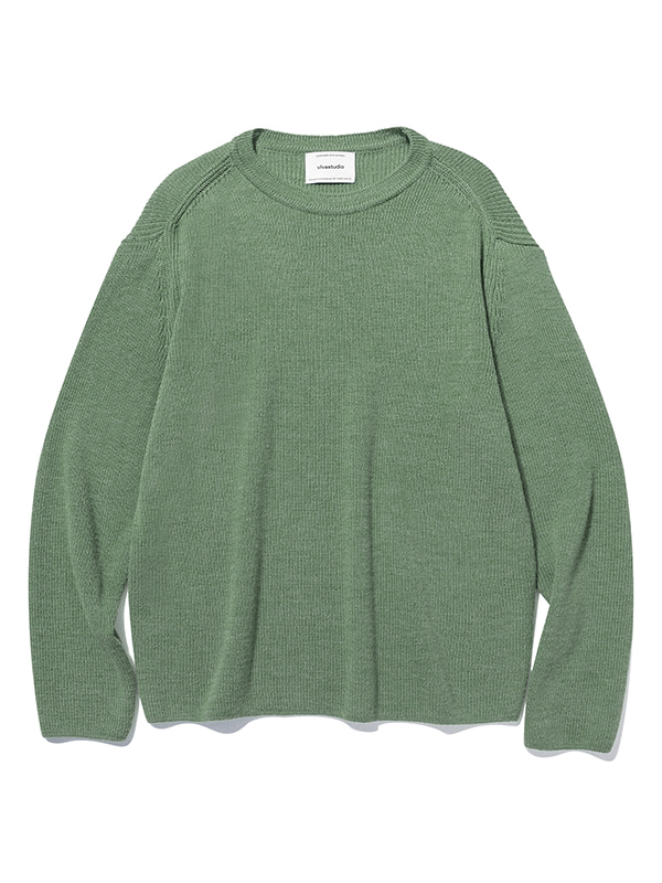 BASIC CUTTING KNIT JS [TEAL GREEN]