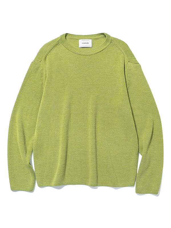 BASIC CUTTING KNIT JS [LIME]
