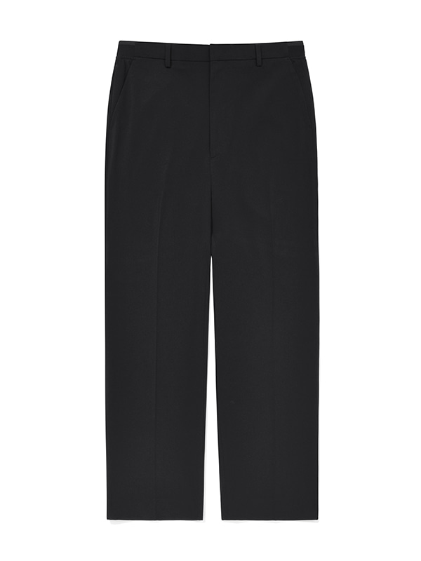 ONE TUCK SLACK JS [BLACK]