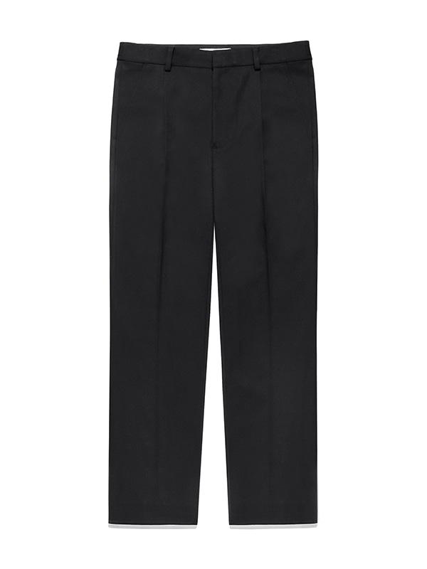 PIN TUCK SLACKS JS [BLACK]