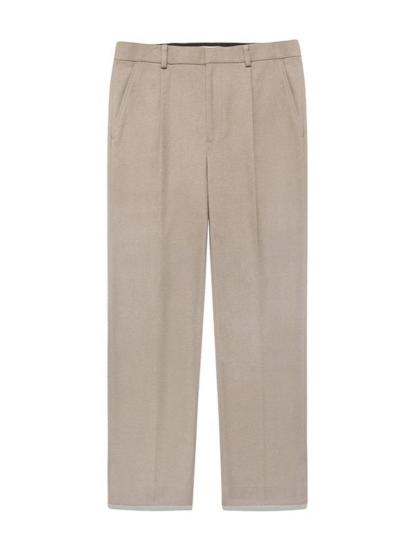 PIN TUCK SLACKS JS [BEIGE]