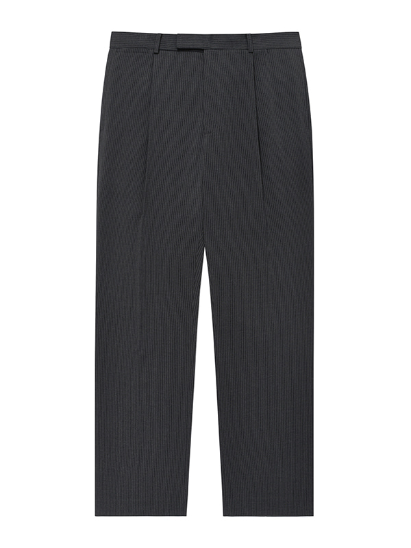 WIDE ONE TUCK SLACKS JA [GREY]