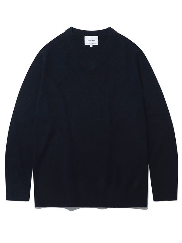 V-NECK KNIT KS [NAVY]