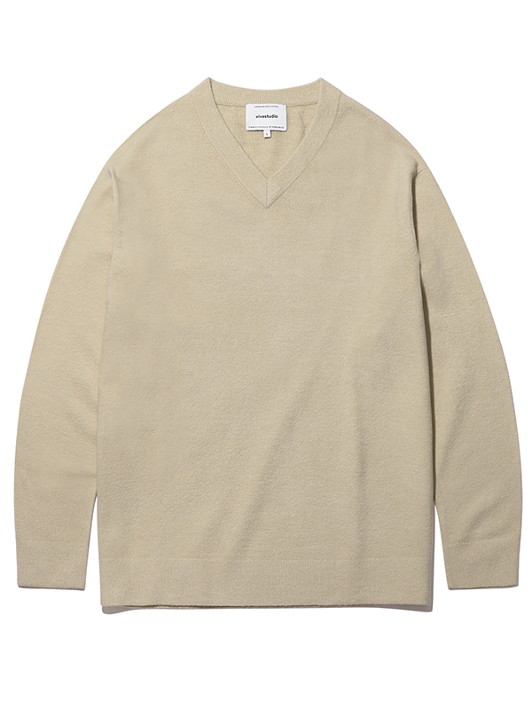 V-NECK KNIT KS [IVORY]