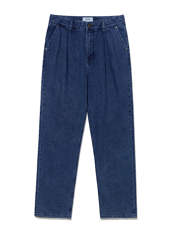 TWO TUCK JEANS KS [DEEP BLUE]