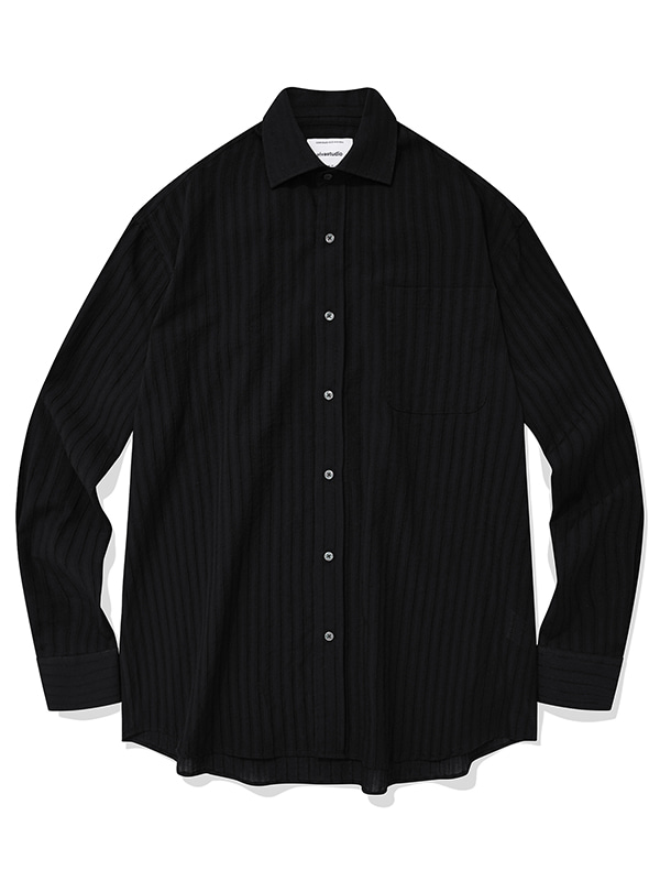 TEXTURE SHIRTS KS [BLACK]