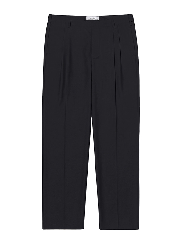 TWO TUCK SLACKS KS [BLACK]