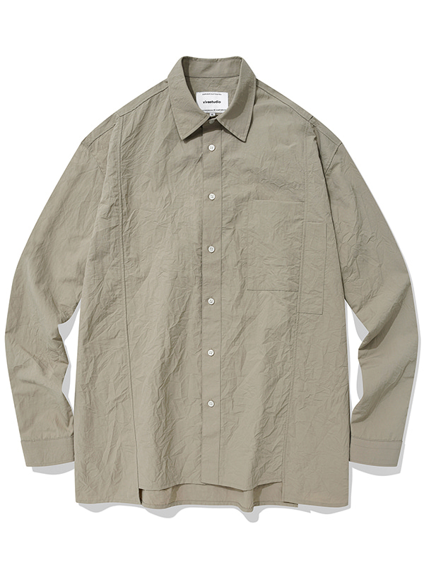 ASYMMETRICAL SHIRTS KS [BEIGE]