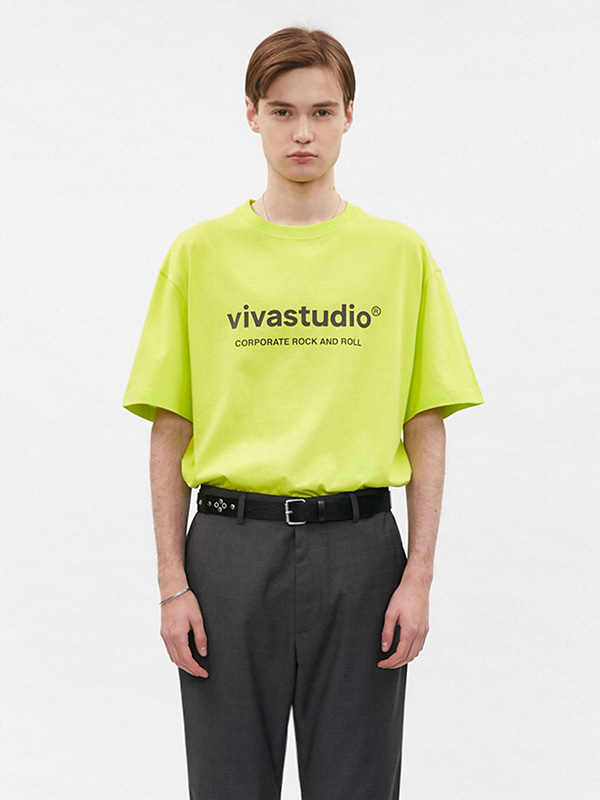 ORIGINAL LOGO SHORT SLEEVE JS [LIME YELLOW]