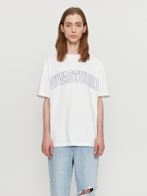 COLLEGE OUTLINE SHORT SLEEVE JS [WHITE]