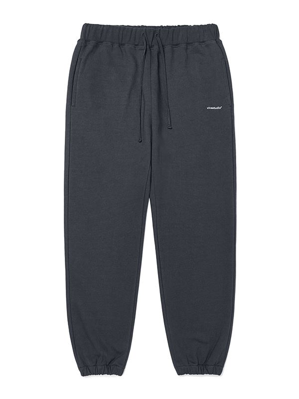 BASIC LOGO SWEATPANTS JA [DARK GREY]