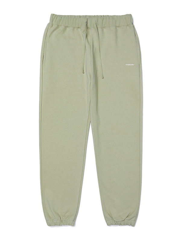 BASIC LOGO SWEATPANTS JA [LIGHT KHAKI]