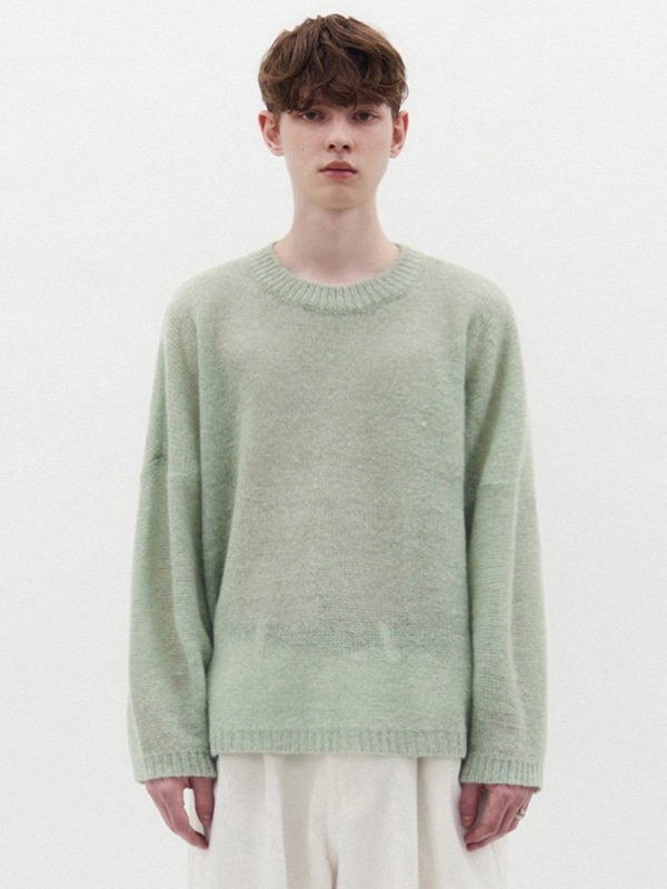 OVER FIT KNIT KS [GREEN]
