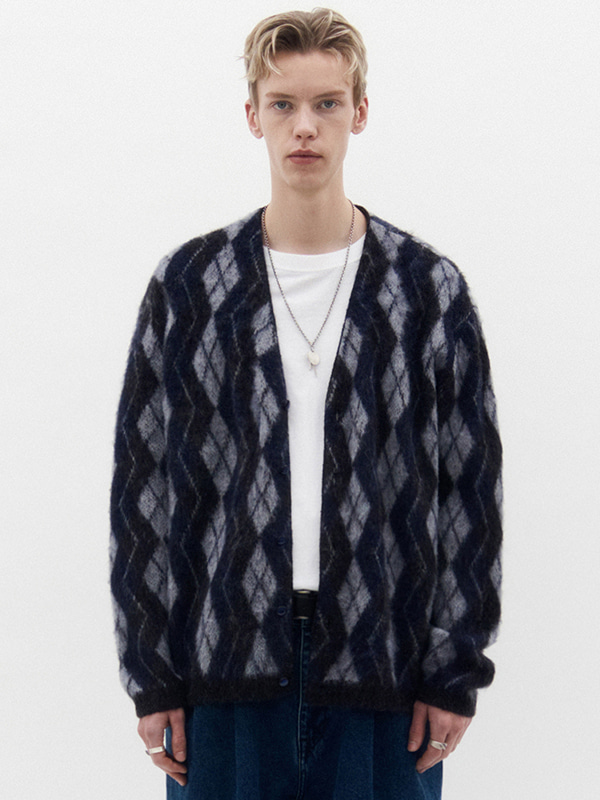 MOHAIR CARDIGAN KS [NAVY]