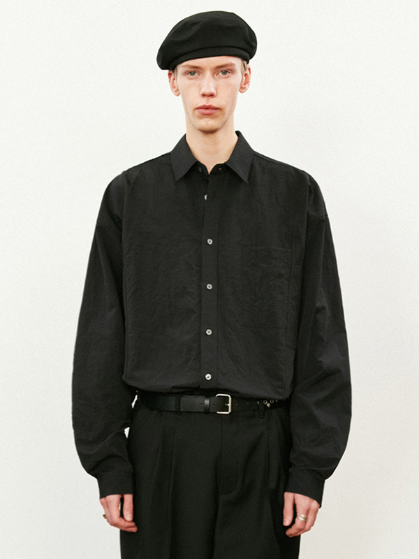 ASYMMETRICAL SHIRTS KS [BLACK]