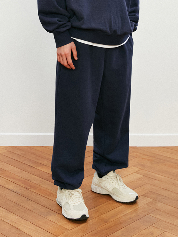 BASIC LOGO SWEATPANTS KS [NAVY]